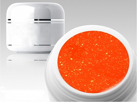 Barevný gel B151 - Neon Glitter Orange